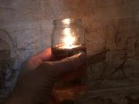 Самодельная масляная свеча.
